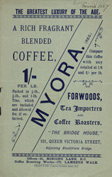Advert For Forwards Tea Importers & Coffee Roasters